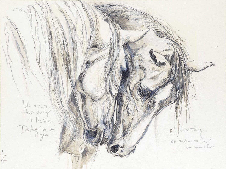 Elise Genest Horse Drawings Horse Sketch Horse Art [ 1120 x 1500 Pixel ]