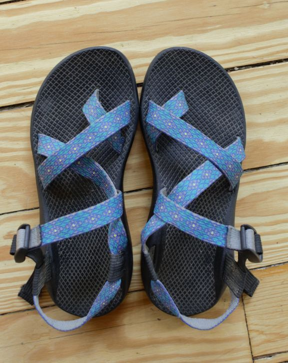 0094a3638 Women s Blue Chacos Sport Sandal size 9 Ankle Strap Geometric- GREAT  CONDITION  Chaco  AnkleStrap
