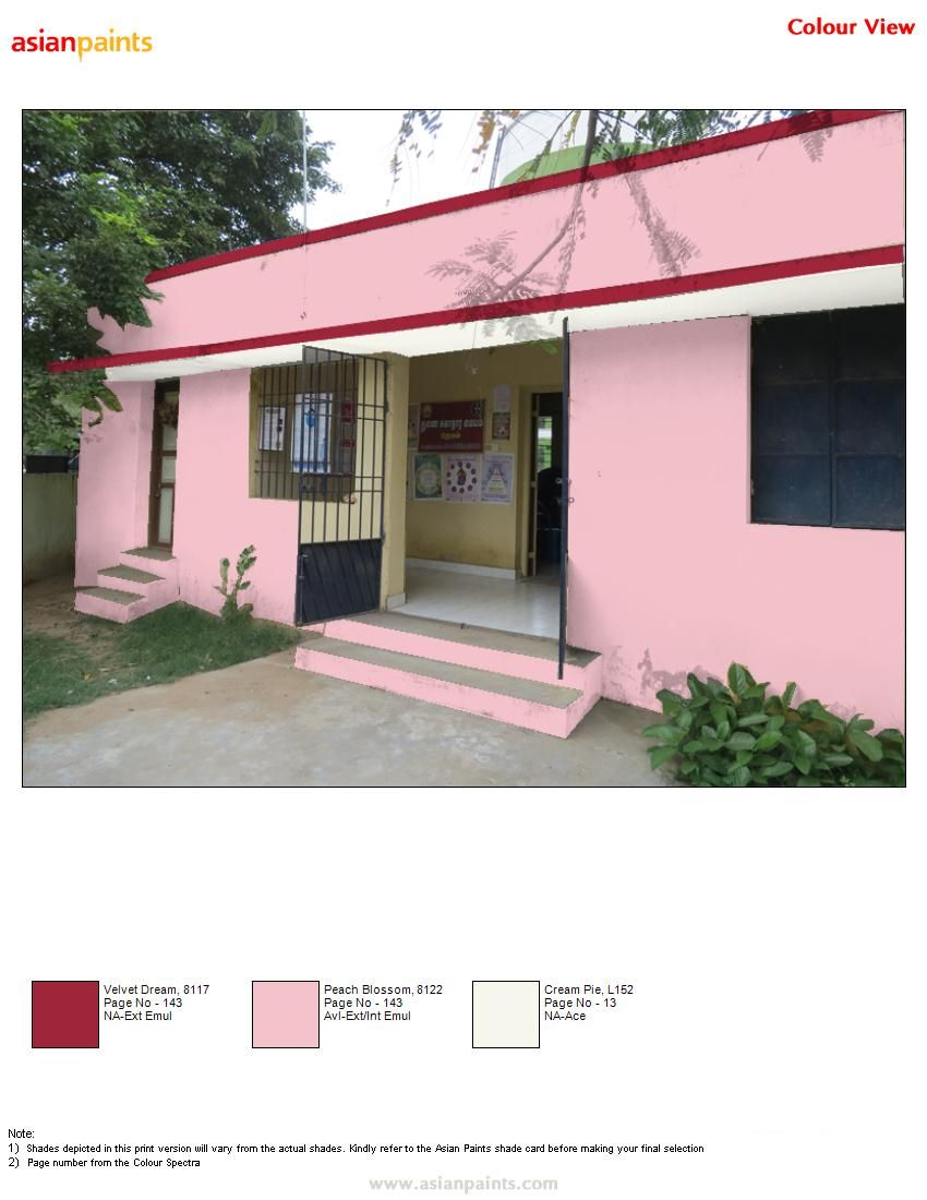 Asian Paints Shade Card Asian Paints Pictures To Pin On Pinterest - Same building another color combination