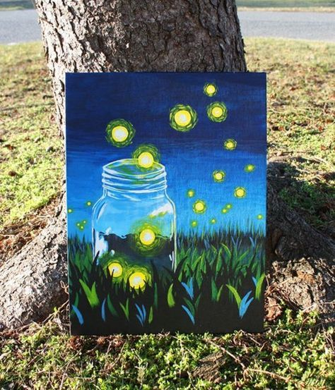 40 Easy Acrylic Canvas Painting Ideas For Beginners