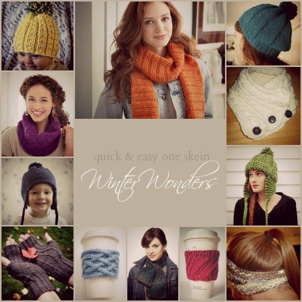 One Skein (or Less!) Winter Wonders | One Skein Knitting Patterns ...