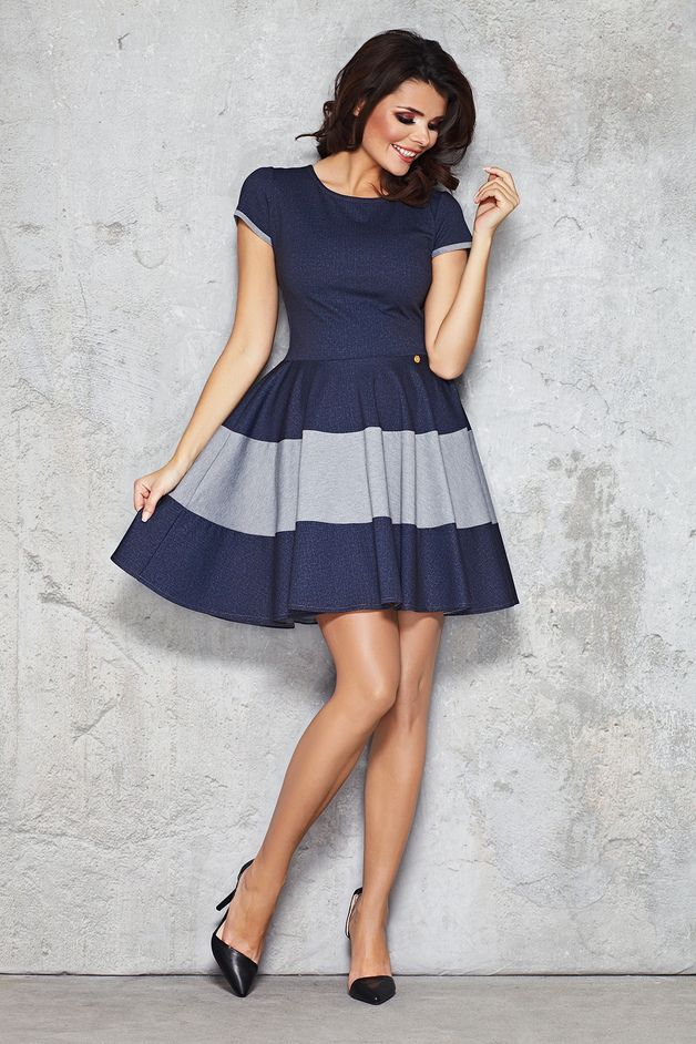 Elegantes Kleid Infinite You M038 | Pinterest | Grey stripes, Mini ...