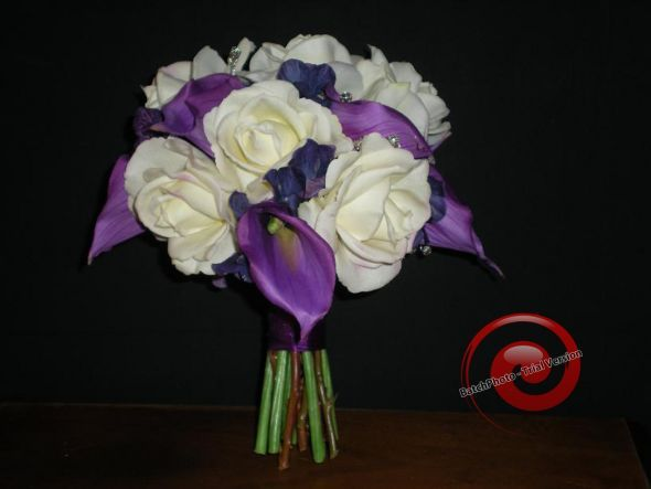 Lots of Wedding Decor Items :  wedding feathers orchids real touch teal pink purple bouquet ceremony flowers reception Bridal Bouquet