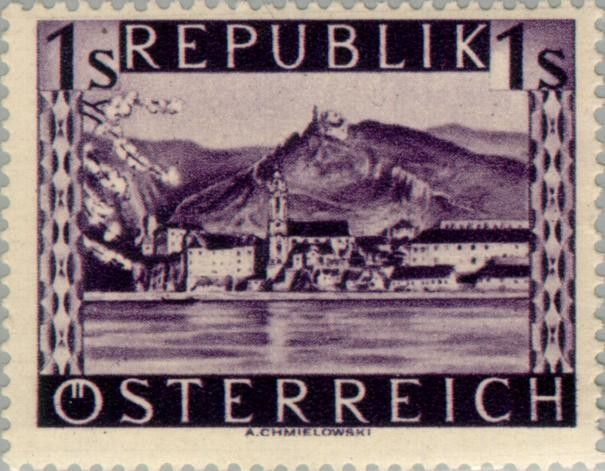Znaczek: Dürnstein (Lower Austria) (Austria) (Landscapes) Mi:AT 850,Sn:AT 512,Yt:AT 708,Sg:AT 1084,ANK:AT 859,AFA:AT 750