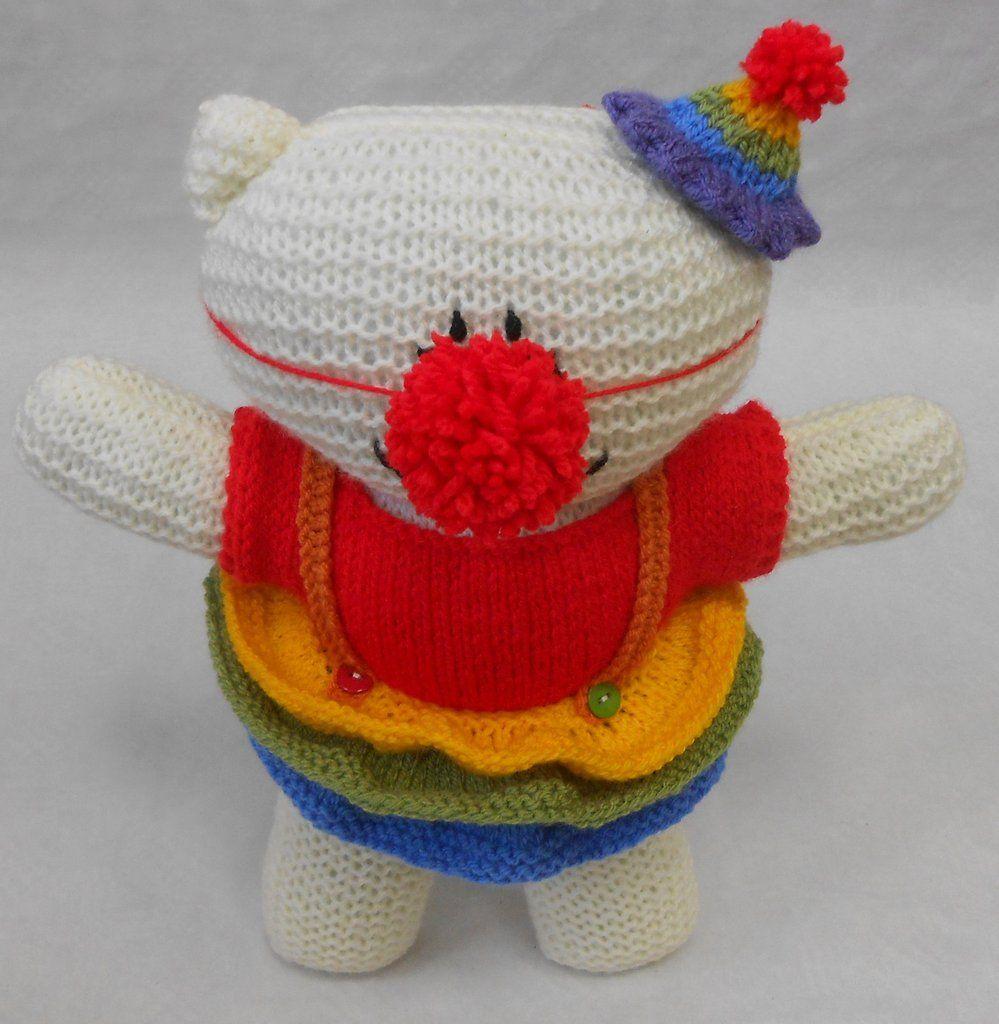 Teddy Bear Clown Costume Kit. Easy knitting pattern to make a ...