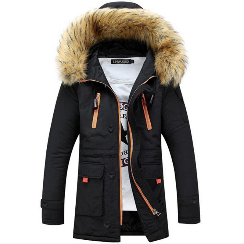 FAV0CENT 2017 Hot Sale Men'S Thickening Casual Warm Raccoon ...