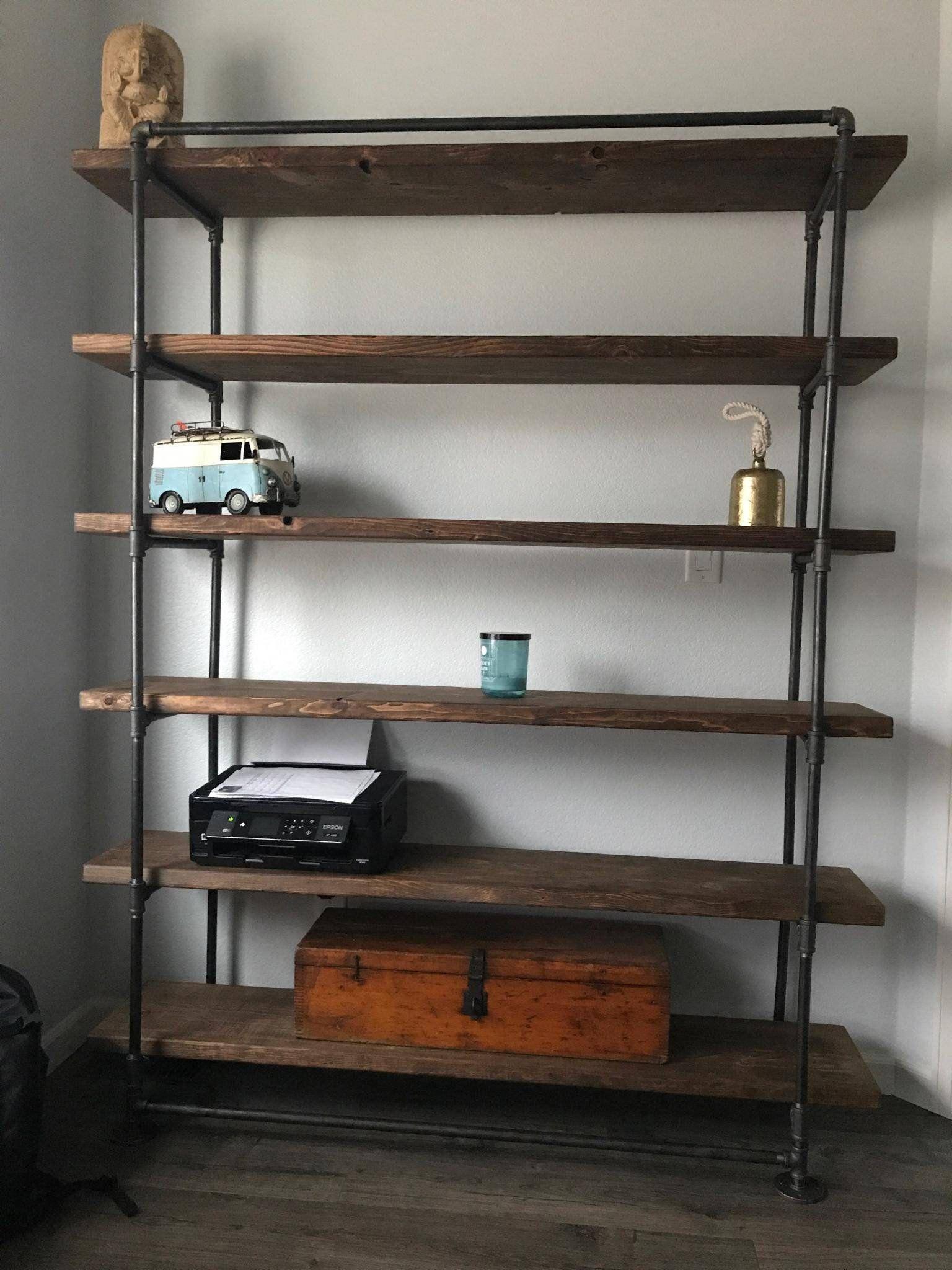 Industrial Metal Reclaimed Wall Unit Bookcase Rustic Bookshelf Industrial Furniture Metalen Boekenkast Industrieel Ontwerp Huizen Industrieel Ontwerp Meubelen