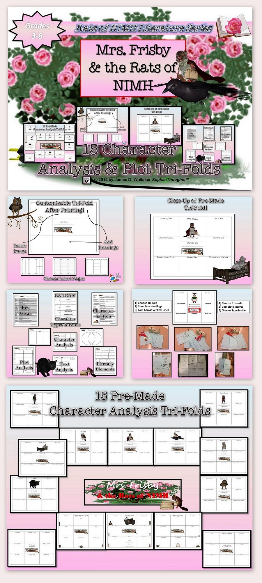 FREE Teacher\'s Resource Packet for Mrs. Frisby and the Rats of NIMH ...