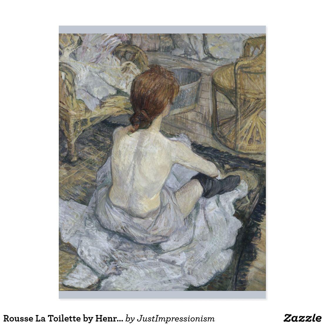 Rousse La Toilette by Henri de Toulouse-Lautrec Postcard