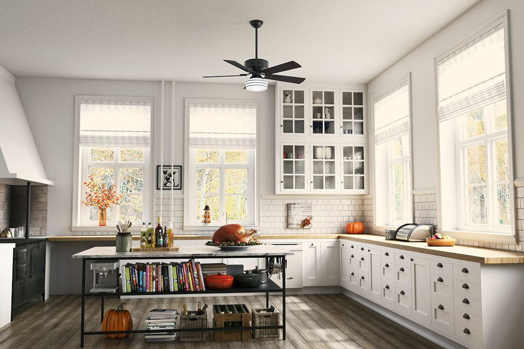 Fall Is Here The Cedar Key Rustic Ceiling Fan Is Inspired By Farmhouse Design Elements From The White Ceiling Fan Farmhouse Style Kitchen Home Decor Kitchen