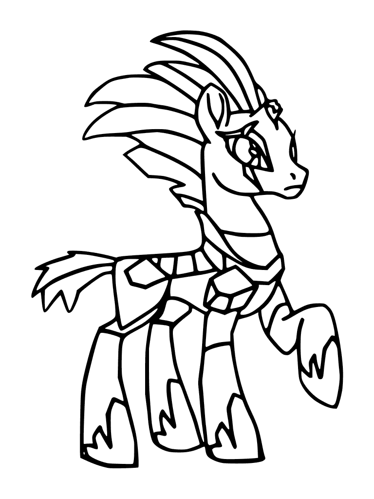Ausmalbilder My Little Pony Luna Böse : My Little Pony The Movie Coloring Page Tempest Shadow Black And