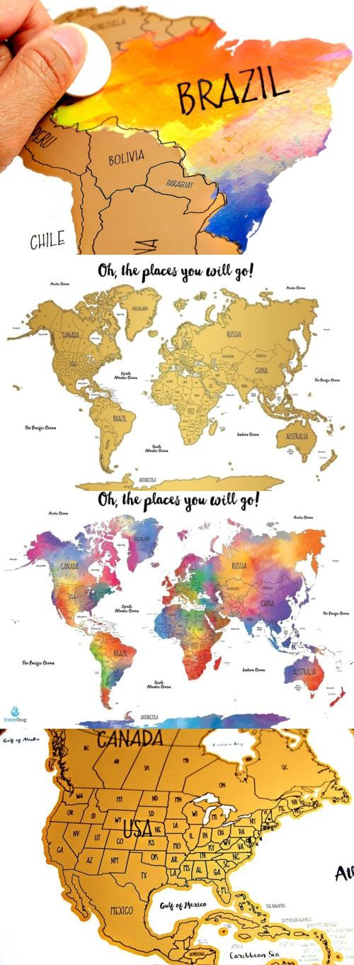 Other travel maps 164807 watercolor world scratch off map perfect other travel maps 164807 watercolor world scratch off map perfect gift for any travel enthusiast gumiabroncs Image collections