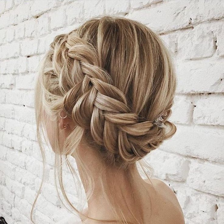 5 245 Likes 13 Comments Luxy Hair Luxyhair On Instagram Beautiful Braided Updo Captured By Short Hair Tutorial Braids For Short Hair Long Hair Styles