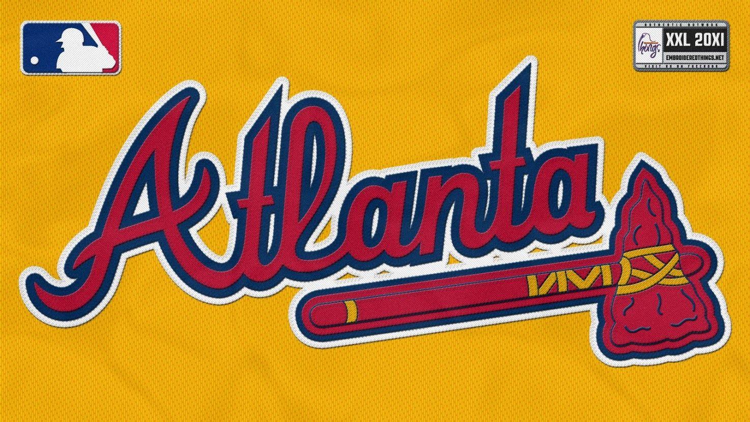Atlanta Braves logo Atlanta braves wallpaper, Atlanta