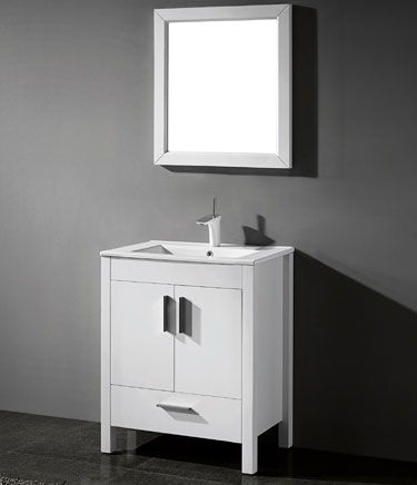 Adornus Trento 24 inch Contemporary White Bathroom Vanities future