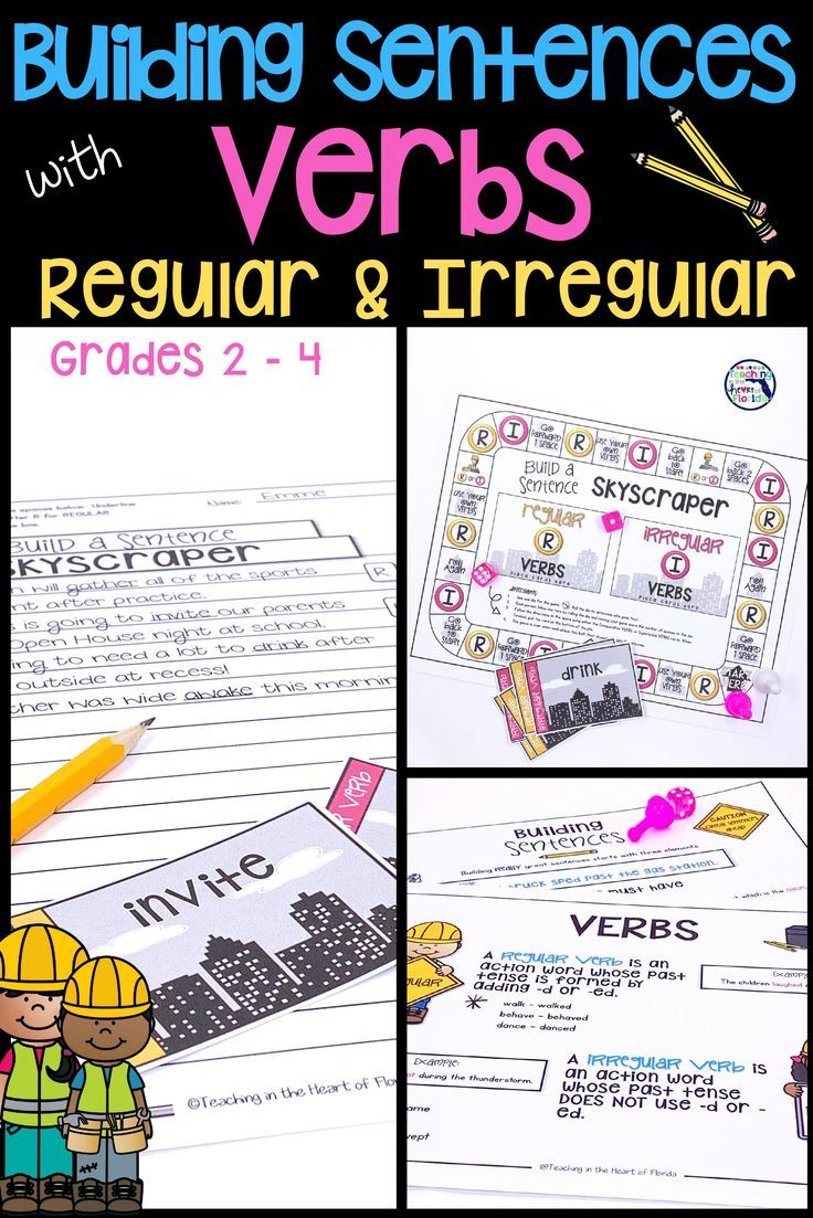 Building Sentences Regular & Irregular Verbs Improve