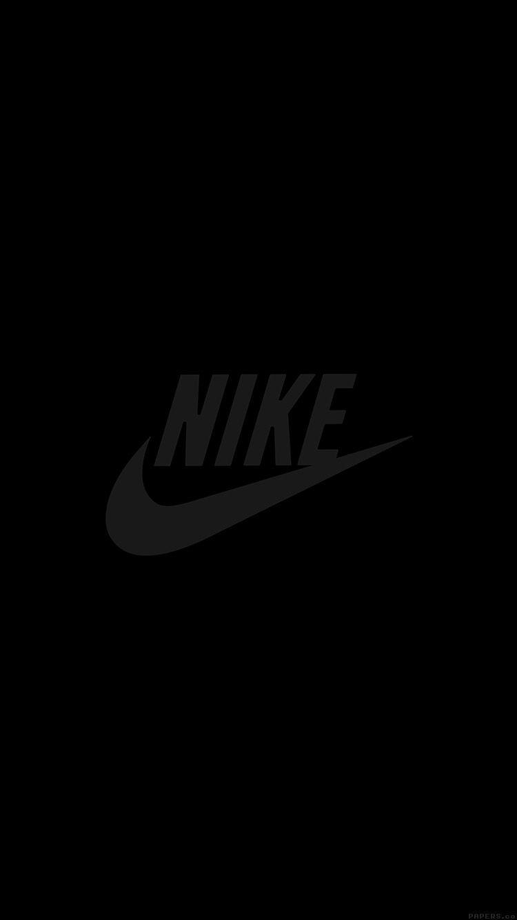 Al86 Nike Logo Sports Art Minimal Simple Dark Nike Wallpaper