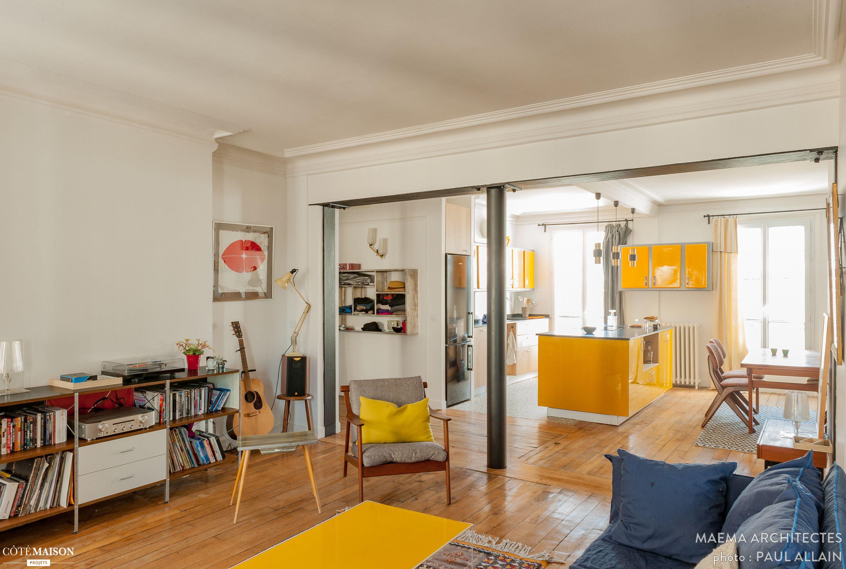 une ouverture dans le mur porteur a t r alis e afin de. Black Bedroom Furniture Sets. Home Design Ideas