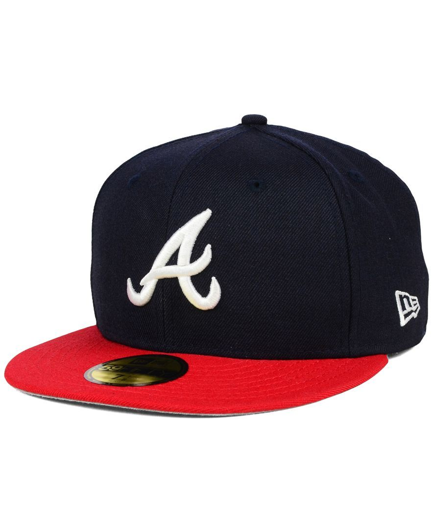 New Era Atlanta Braves Anniversary Patch 59fifty Cap Reviews Sports Fan Shop By Lids Men Macy S Iphone Background Images Black Background Images Best Photo Background