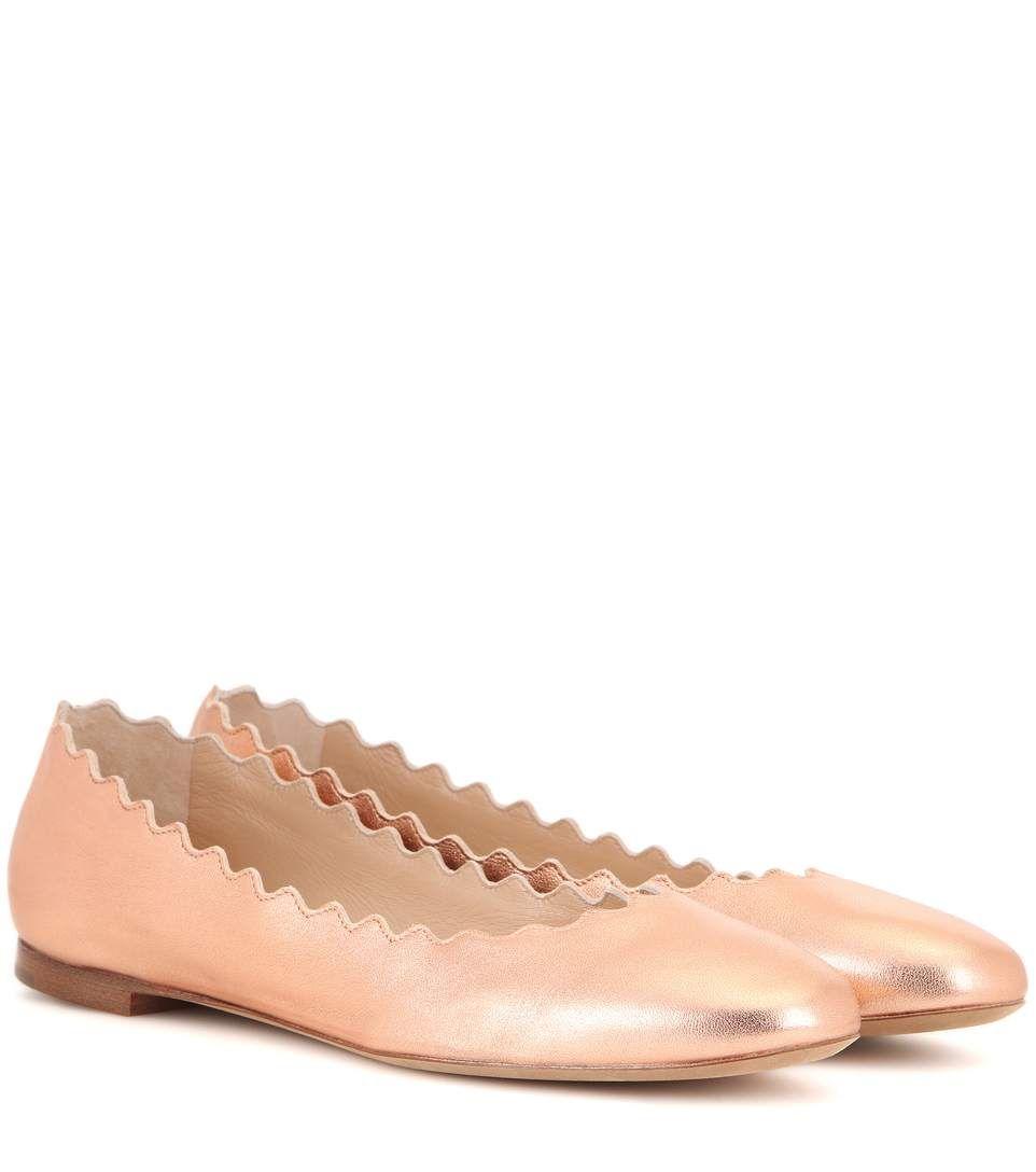 Lauren ballerinas - Metallic Chlo�� y071iAt7