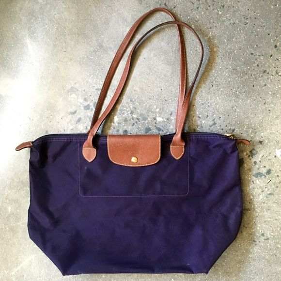 511524f0f1ec6 Longchamp Large Le Pliage Tote in Bilberry Purple Longchamp Large Le Pliage  Nylon Tote in color Bilberry Purple. Used with some light marks on the  outside ...