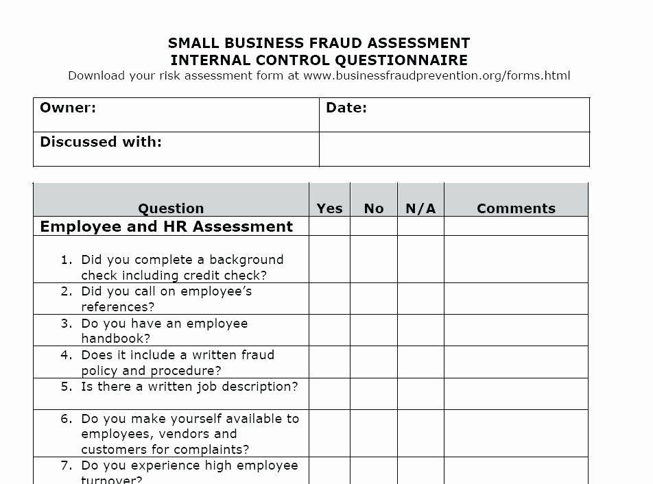 Business Risk Assessment Template Fresh Business Risk Assessment Form Template 933e9b7b0c50 Business Risk Employee Handbook Job Application Template