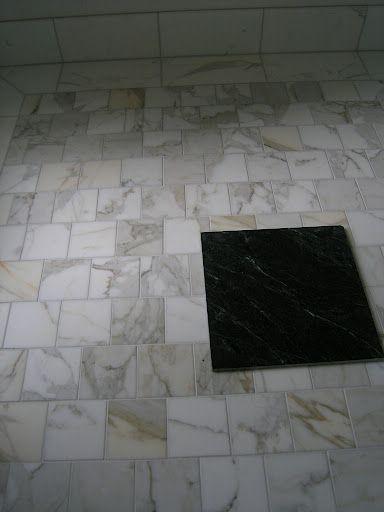 6x6 Tile Offset Home Master Bathroom Pinterest