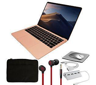 "2019 Apple Macbook Air 13"" Retina 128GB urBeats3 Earbuds - QVC.com"