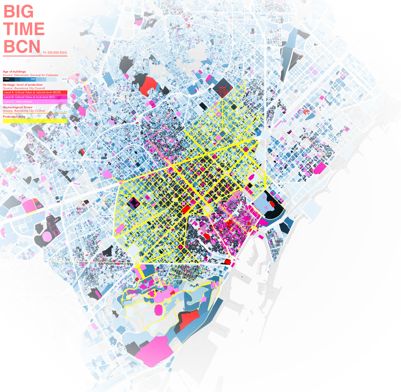 Site Map Diagram: Stunning Interactive Map Of Barcelona Revealing The Age Of The City.