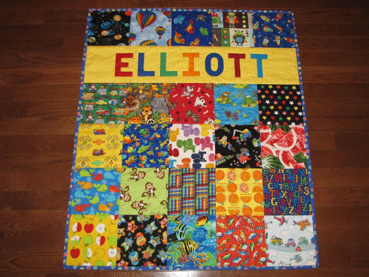 Personalized Baby Quilt, I Spy Quilt with Name, Boy or Girl ... : custom baby quilts - Adamdwight.com
