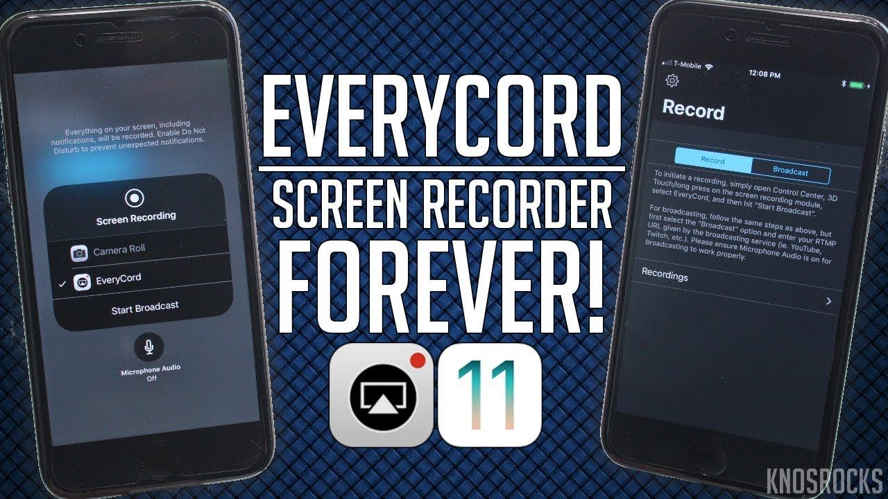 Everycord Screen Recorder iOS 11 11.2.5 / 11.3 FOREVER