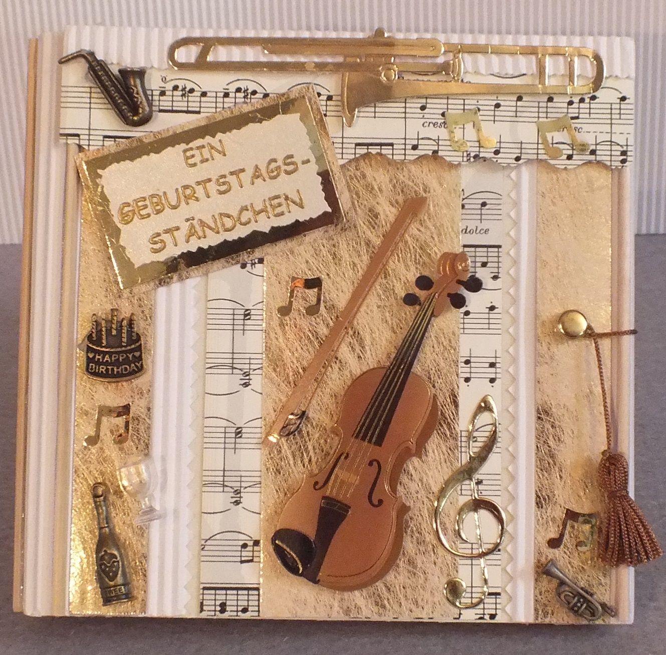 Geburtstagskarte Musiker Musikliebhaber Geburtstagskarten Cards