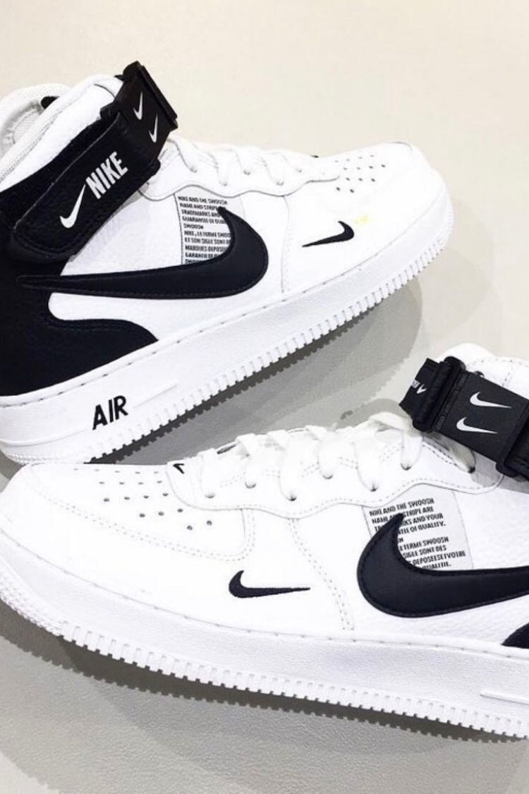 bcc222ad939 NIKE AIR FORCE 1 MID 07 LV8 WHITE BLACK TOUR AF ONE 804609 103 #NIKEAIRFORCE