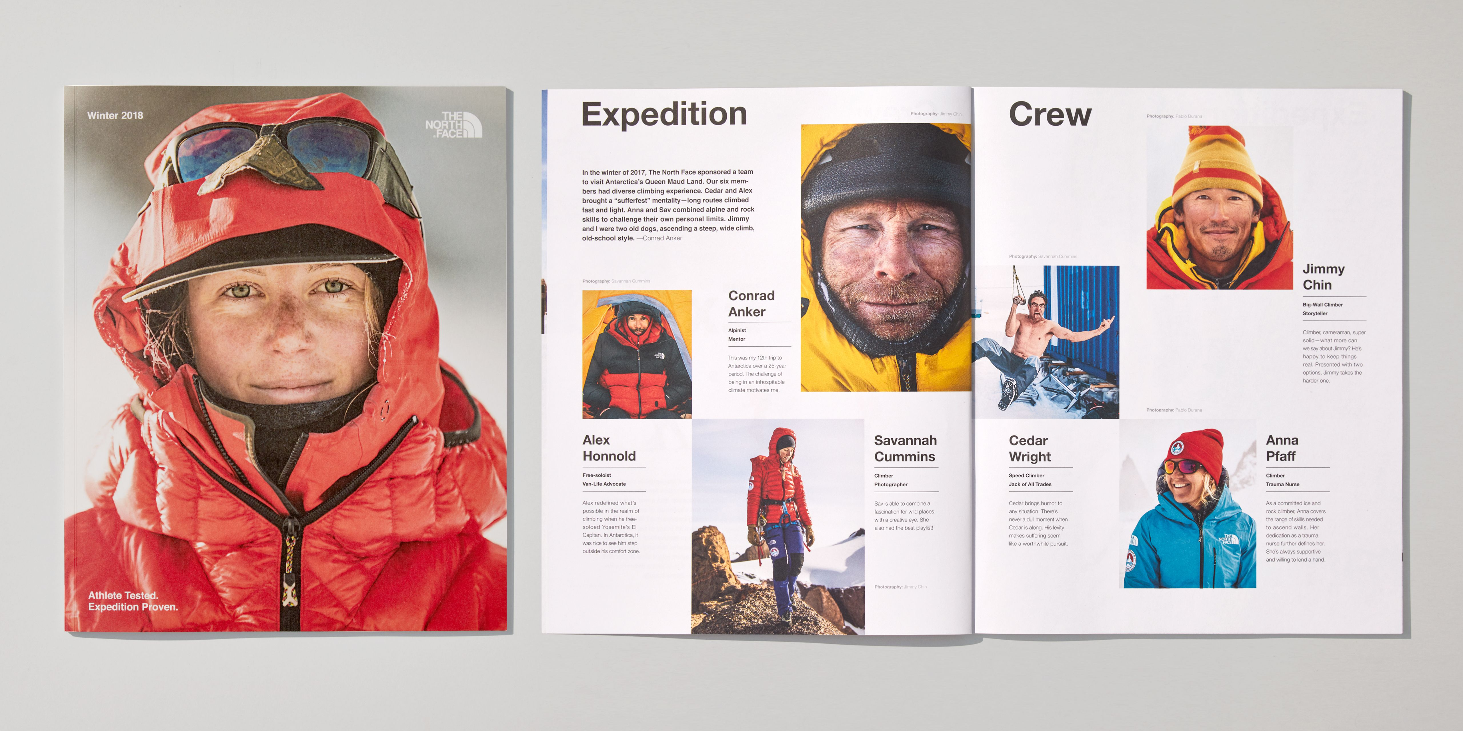 Art Direction for the North Face Winter Catalog (2018