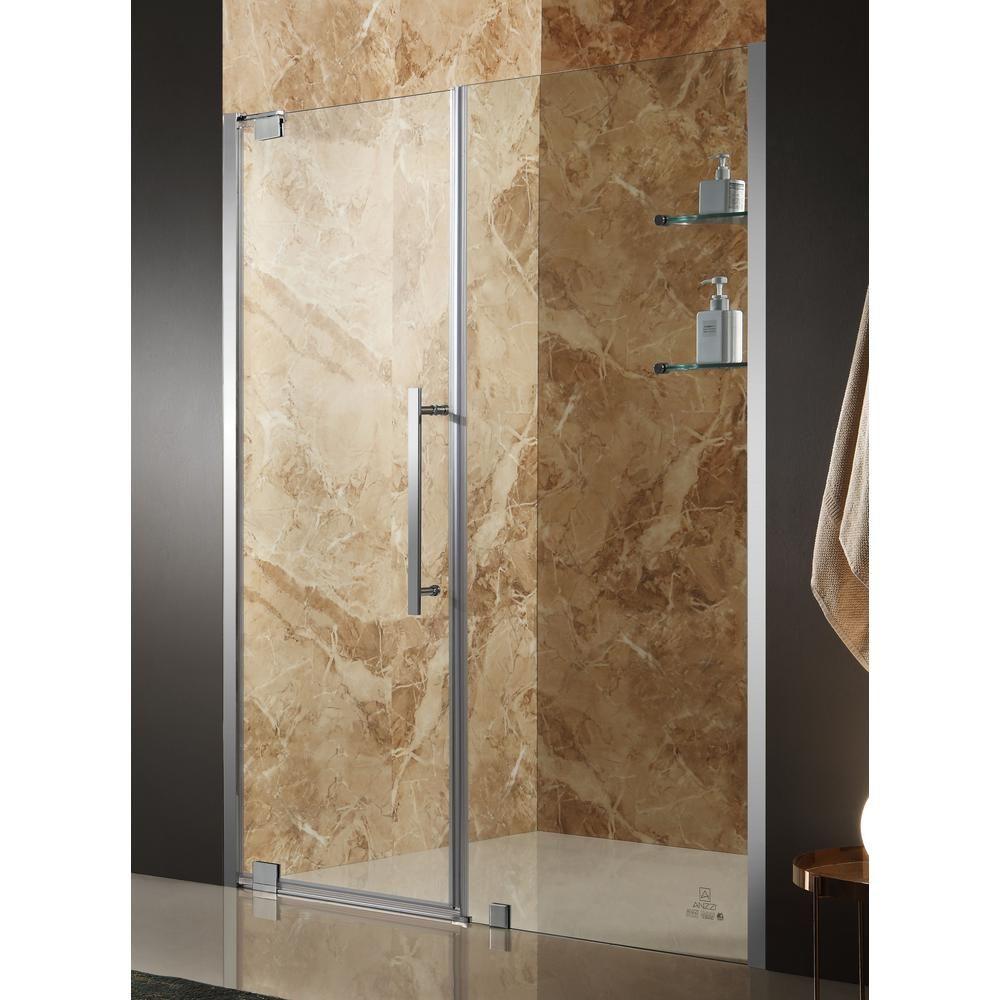 Anzzi Duke 48 In X 72 In Semi Frameless Pivot Shower Door In