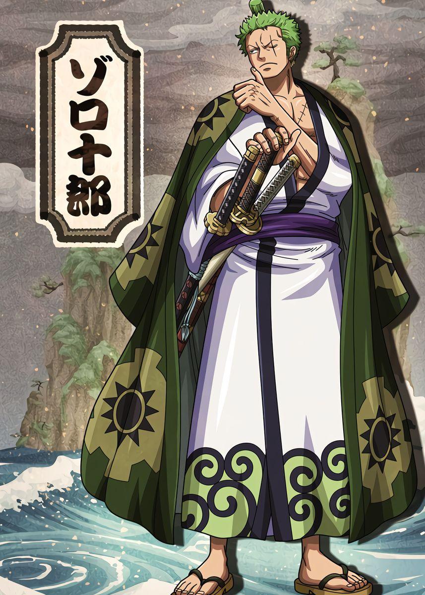 Ronona Zoro Wano Metal Poster Print Onepiecetreasure Displate Manga Anime One Piece One Piece Manga Zoro One Piece
