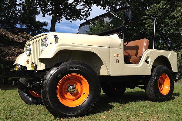1967 Jeep Cj 5 With Orange Rims Jeep Cj5 Jeep Cj Jeep