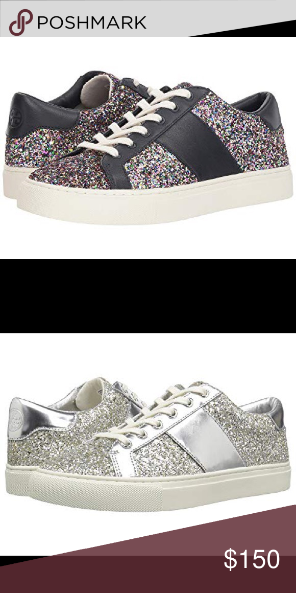 d3e77e5119fa Tory Burch glitter sneakers brand new with tags Silver size 7.5-9.5 Black  size 8