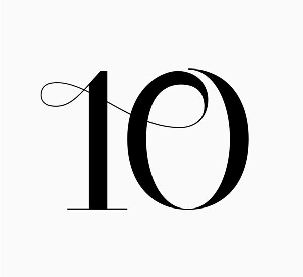 Unique Numeral Design With Almost A Calligraphic Feel Creating