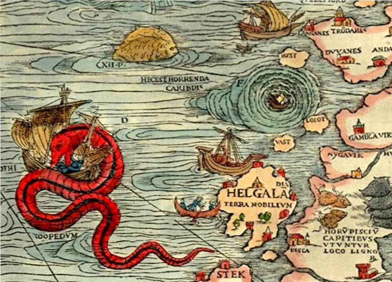 antique maps sea monster google search peter wendy pinterest