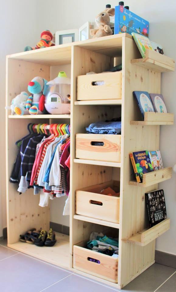 Estantería de madera | Recámara niño | Pinterest | Estanterias de ...