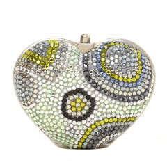 JUDITH LEIBER Heart Crystal Pill Box