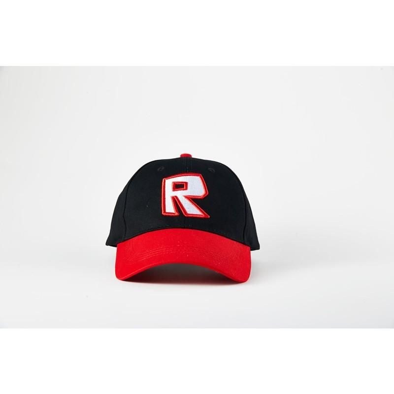 Roblox Peaked Cap Black And Red Adjustable Sports Hat