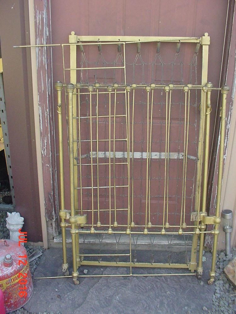 Antique iron crib parts Victorian cast iron baby bed parts only NOT  COMPLETE  Victorian. Antique iron crib parts Victorian cast iron baby bed parts only