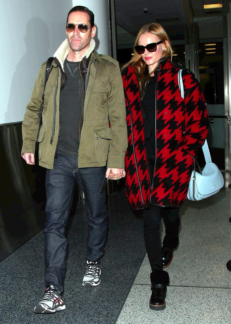 Kate Bosworth wearing @coach Fall 2014 with Saint Laurent sunglasses – LAX Airport #2014