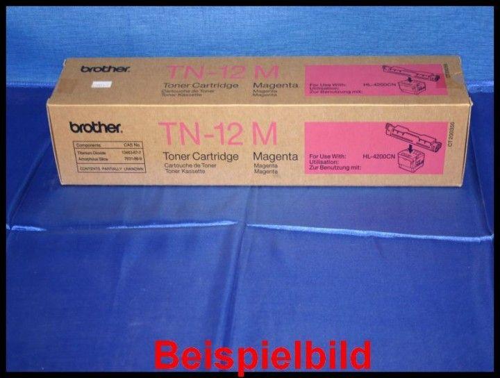 Brother TN-12M Lasertoner Magenta / Rot -A  - für Brother HL-4200CN    Zur Nutzung für private Auktionen z.B. bei Ebay. Gewerbliche Nutzung von Mitbewerbern nicht gestattet. Toner kann auch uns unter www.wir-kaufen-toner.de angeboten werden.