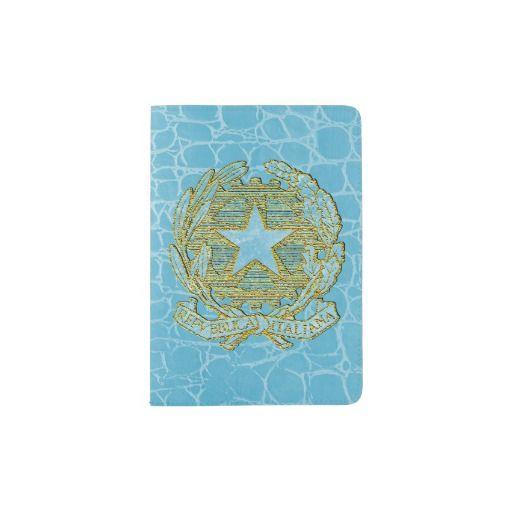Repubblica Italiana Azzurro Oro Passport Holder