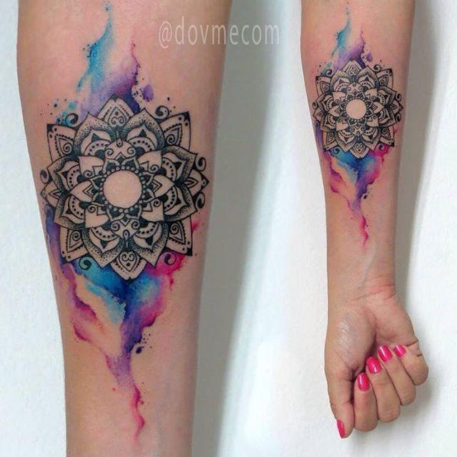 73897a78723c0 Watercolour mandala tattoo | Tattoos | Mandala tattoo, Tattoos ...