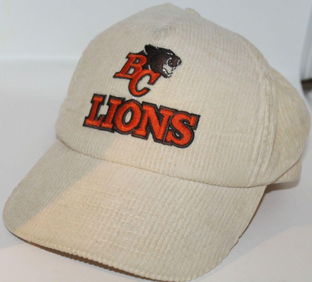 4661b8cab4e BC Lions Wilson M L CFL Snapback Corduroy Cap Hat