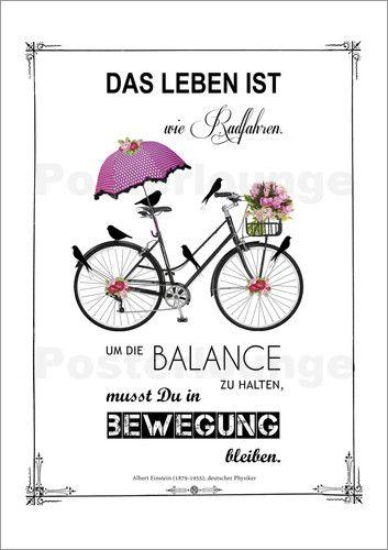 Abouki Art Factory Leben Ist Wie Radfahren Fahrrad Spruch